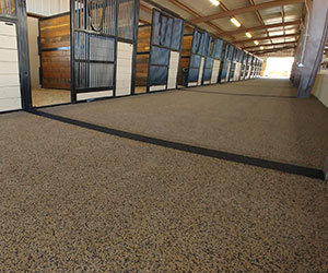 Horse Stable with Polylast Flooring