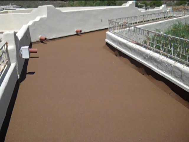 View Deck after Polylast Rubber Flooring